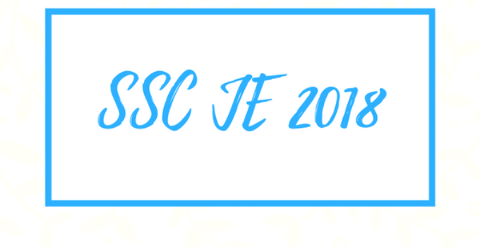 SSC JE 2018 question paper with solutions