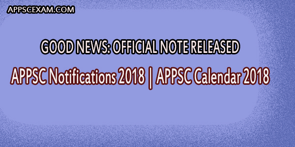 APPSC Notifications 2018 APPSC Calendar 2018 50000 Vacancy Posts